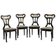 Neoclassical Chairs, Italian Work, circa 1830
