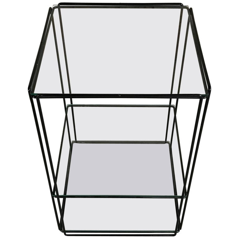 Graphical 'Isocele' Side Table by Max Sauze, France, 1970s