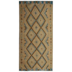 Kilim Rugs, Antique Runner Rug, Geometric Carpet Rugs for Sale from Balkan