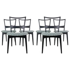 Set of 6 Italian Dining Chair from the 1950s