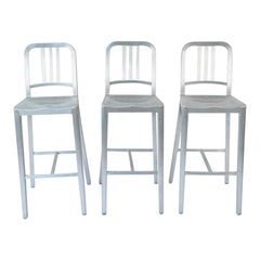 Three Emeco Bar Stools