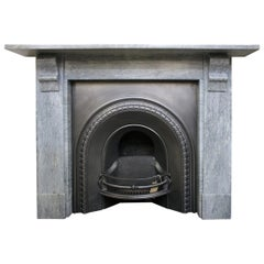 Antique 19th Century Grey Bardiglio Marble Fireplace Surround
