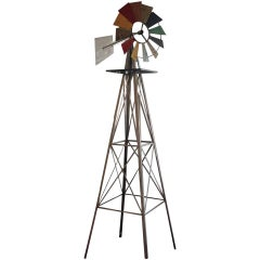 Folk Art Windmill Sculpture