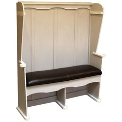 Painted High Back Settle