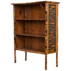 English 19th Century Découpage Fish Bookcase