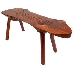 Midcentury Studio made Live Edge Game Table