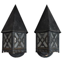 Pair of 1930s Outdoor Sconces