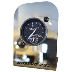 Authentic Aircraft Boeing 737 Cockpit Instrument Fuel Gauge