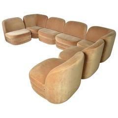 Milo Baughman for Thayer Coggin Modular Sectional Sofa, 1981