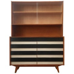 Striped Sideboard with Bookcase U-453 by Jiri Jiroutek for Interier Praha, 1960s
