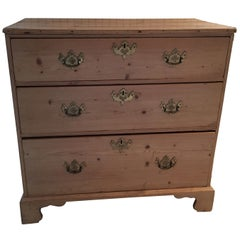 Late 19th Century English Pine Chest of Drawers