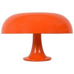 Nesso Table Lamp in Orange Color by Giancarlo Mattioli for Artemide, Italy 1960s