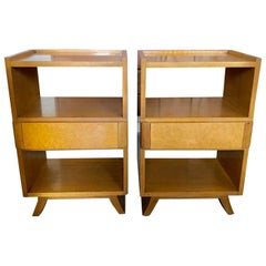 Pair of Elegant Nightstands by E.Saarinen for Northern Furniture/Rway Art Deco