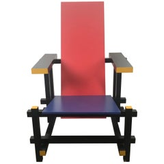 Gerrit Thomas Rietveld Red Blue Chair Gerard van de Groenekan