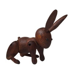 Vintage Articulated Rabbit by Kay Bojesen, Denmark, 1960s