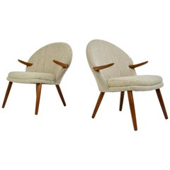 Pair of Kurt Olsen Danish Teak Lounge Chairs
