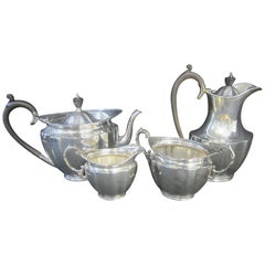 Sterling Silver 4-Piece Tea and Coffee Set