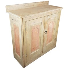 19th Century Pine Cupboard in Original Finish
