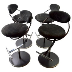 Set of Four Swivel Stools by Design Institute of America