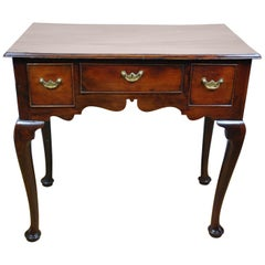 Antique Georgian Yew Wood Lowboy