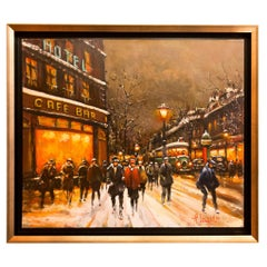 Lourenco Armand Oil on Canvas the Parisian Grand-Boulevards