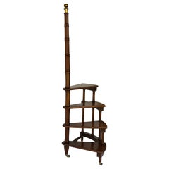 Regency Style Mahogany Library Ladder or Steps
