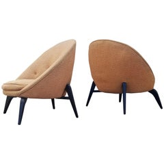 Pair of Spider Leg Lounge Chairs in the Style of Jean Royère