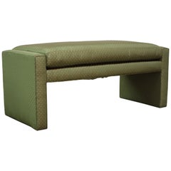 Midcentury Parsons Bench by Milo Baughman