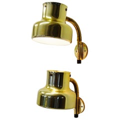 Pair Brass Bumlingen Wall Lights by Anders Pehrsson for Ateljé Lyktan, 1960s