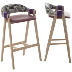 Mathilda Bar or Counter Stool by Patricia Urquiola for Moroso in Ash or Oak