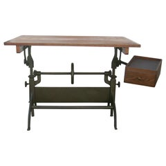 Antique Hamilton Drafting Table Industrial Table