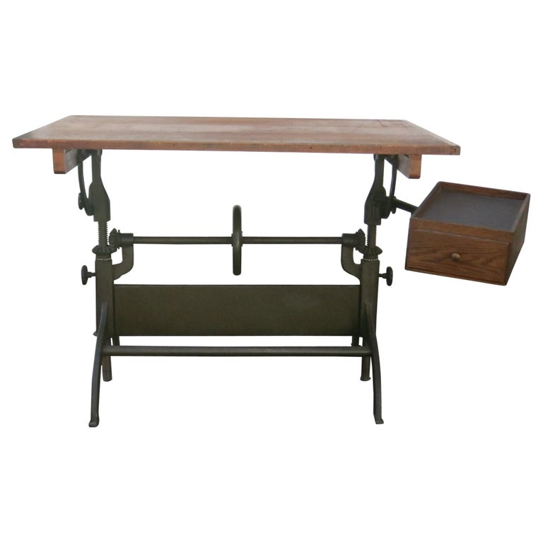 Antique Hamilton Drafting Table Industrial Table For Sale