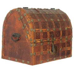 1950s Leather Dome Box