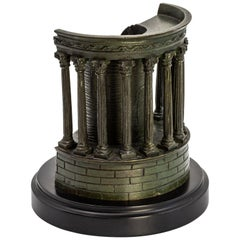 Scarce Highly-Detailed Bronze Model, Temple of Sibyll, Tivoli, Near Rome