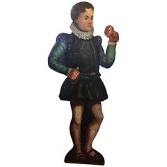 19th Century Dummy Board, Hand Painted Figure of English Elizabethan Boy