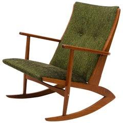 Danish Teak Boomerang Rocking Chair by Holger Georg Jensen