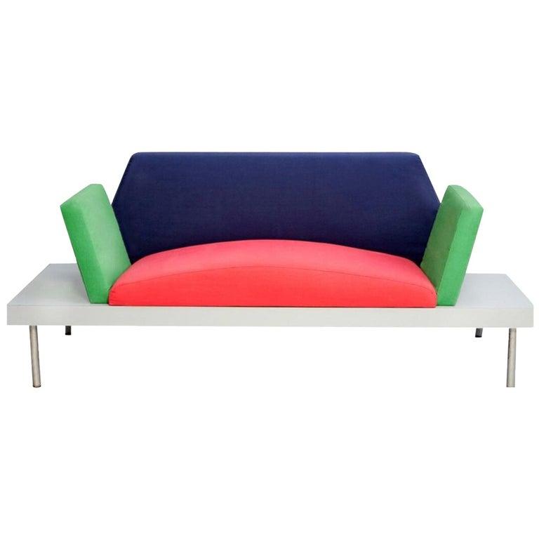 Post-Modern Memphis Milano Marco Zanini Dublin Sofa, 1981, Italy Ettore Sottsass For Sale