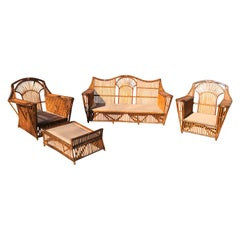 Antique Stick Rattan Set