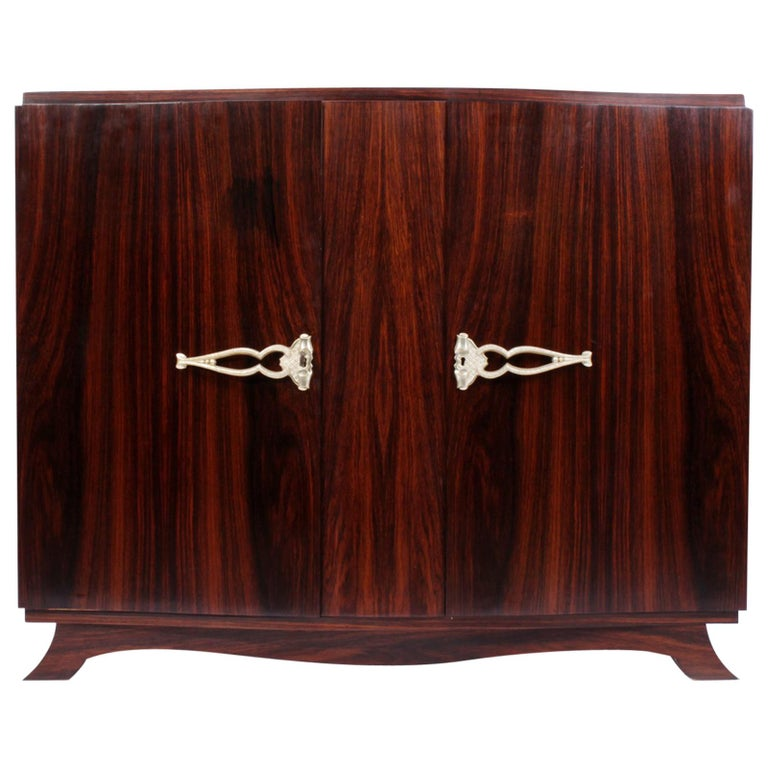 French Art Deco Sideboard in Rosewood, circa 1930 For Sale