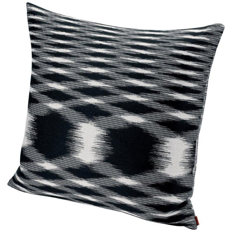 MissoniHome Svezia Cushion in Black & White Flame Print