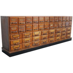German Pine Apothecary Cabinet, 1940s