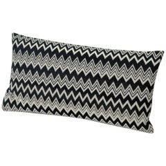 MissoniHome Orvault Cushion in Black and White Chevron Print