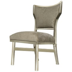 Crawford Desk Chair in Champagne Leaf & Gray by Badgley Mischka Home