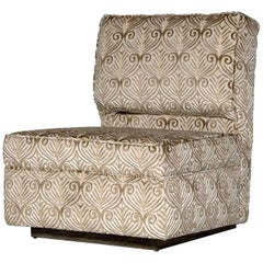 Mulholland Slipper Chair in Ebony and Gold by Badgley Mischka Home