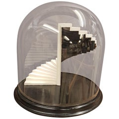 19th Century Glass Dome with Bespoke Miniature Staircase