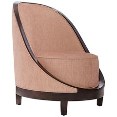 Marmont Accent Chair I in Chocolate and Spice by Badgley Mischka Home