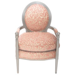 Marmont Accent Chair II in Rose & Silver Leaf by Badgley Mischka Home