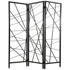 Doheny Room Screen in Lacquered Ebony by Badgley Mischka Home