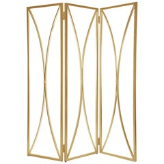 Mulholland Room Screen in Gold Leaf by Badgley Mischka Home