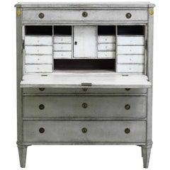 1790s Fine Gustavian Secretary, Made by Stockholm Master